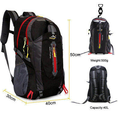 3 Colors 40L Light Hiking Backpack Outdoor Travel Sports Climbing Rucksacks