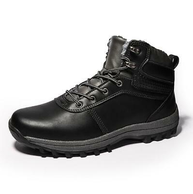 Men's Insulated Winter Snow Boots Shoes Warm Lined Thermal Waterproof Work Hiker