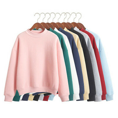 Women Casual Long Sleeve Hoodie Sweatshirt Jumper Pullover Thick Autumn Winter T