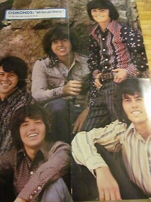 The Osmonds, Donny Osmond, Four Page Foldout Poster, Brothers
