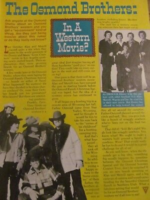 The Osmonds, Donny Osmond, Full Page Vintage Clipping, Brothers