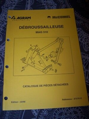 6Y Catalogue de pieces detachees AGRAM Debrousailleuse MAG 310