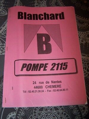 ET catalogue de pieces detachees POMPE Blanchard 2115