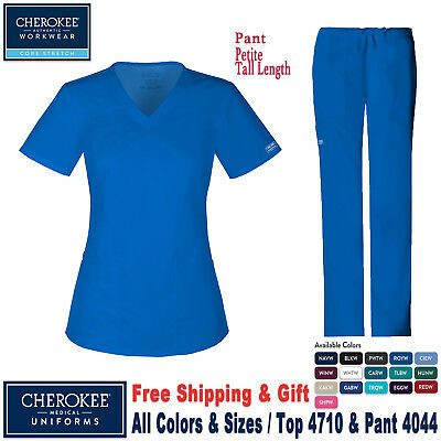 Cherokee Scrubs Satz Core Stretch Uniform V-Ausschnitt Top & Cargo-Hose