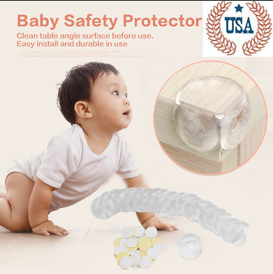 20 Pcs Clear Table Desk Corner Edge Guard Cushion Baby Safety Bumper Protector