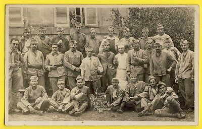cpa Post card France Carte Photo MILITAIRES SOLDATS Pere Cent vers 1920