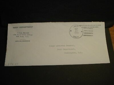 USS WARREN APA-53 Official WWII Naval Cover 1943 Attack Transport