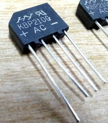10x KPB210G 2A 1000V bridge rectifier small inline version