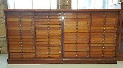 Exceptional Pair Early 20th C.  Mahogany Butterfly Insect Collector's Cabinets