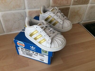 ADIDAS SUPERSTAR TRAINERS size UK 3 TODDLER VGC