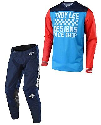 Tuta Maglia Pantaloni Cross Enduro Tld Troy Lee Gp Air Mono Navy Blu 34(50) L