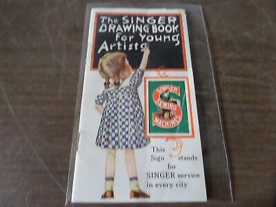 """1928 Booklet """"the Singer Drawing Book For Young Artists"""" - The Singer 20"""