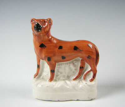 Antique mid 19th Century Staffordshire Figurine of a Leopard