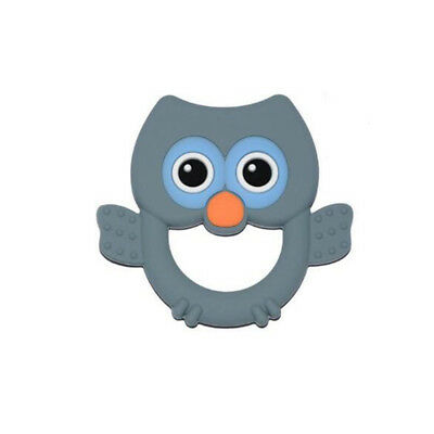 Cute Owl shape Safety Silicone Teether Baby Toddler Infant Teething Appease CB