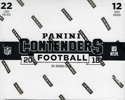 2018 Panini CONTENDERS Football NFL Trading Cards New 264c. Retail FAT PACK Box