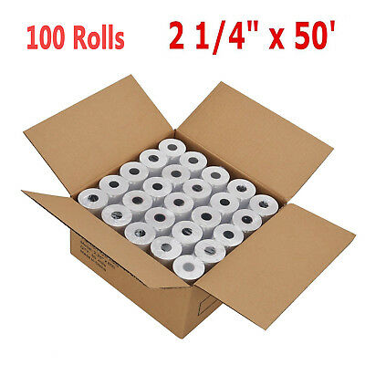 "100 Rolls/Case 2 1/4"" 57mm x 50' Thermal Receipt Cash Register Credit Card Paper"