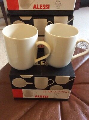 Alessi La Bella Tavola New Boxed Set Of 2 Cups And Saucers 5 00
