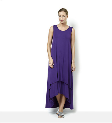Join Clothes Round Neck Layered Hem Maxi Dress Purple Size Small BNWT rrp £126