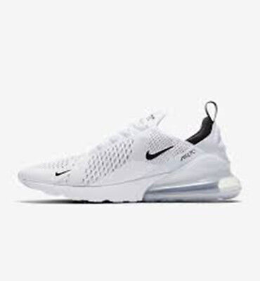 Men's Shoe Nike Air Max 270 White/White/Black 100% Authentic & NEW IN BOX
