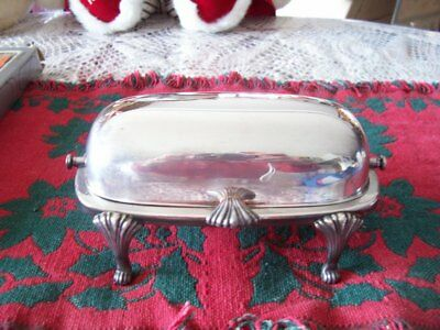 Poole Silver Co. Lancaster Rose butter dish