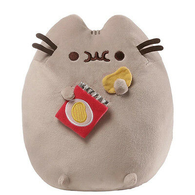 "New GUND Pusheen Potato Chip Snackable Cat Plush Stuffed Animal 9.5"" 4058948"