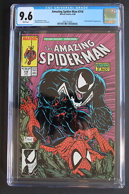 AMAZING SPIDER-MAN #316 Classic VENOM McFARLANE 1989 Black Cat Movie CGC NM+ 9.6