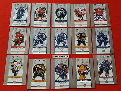 🏒18/19 UD Tim Hortons ☆GAME DAY ACTION☆ Complete Set (15)  Free Shipping!!!