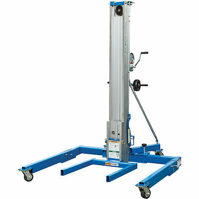 Genie Superlift Manual Material Lift w/Straddle Base-5ft Lift 1000Lb Cap
