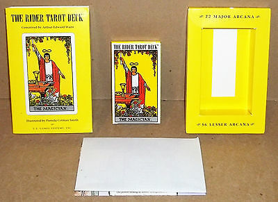 The Rider Tarot Deck Conceived By Arthur Edward Waite U.s. Games Systems 78 Card