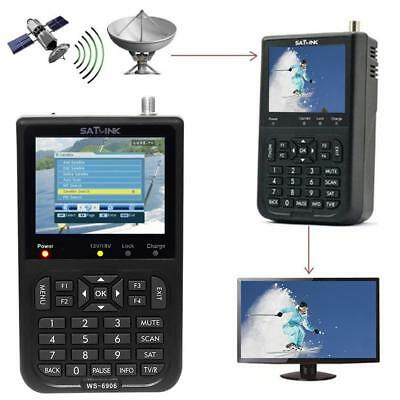 Satlink WS-6906 Digital Satellite Meter Sat Finder Signal DVB-S FTA C&KU Band