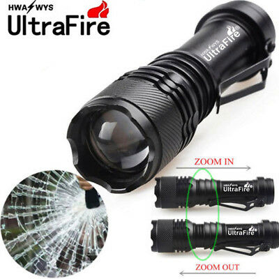 Ultrafire 50000LM Q5 LED Flashlight Zoomable Mini Torch Light Lamp AA 14500 y