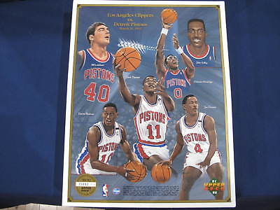 1991-92 Upper Deck LA Clippers vs Detroit Pistons Lot of 100 Promo Panels 8.5x11
