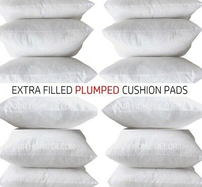 Extreme Fill Plump Hollowfibre Cushion Pads Inners Fillers Scatters- All Sizes