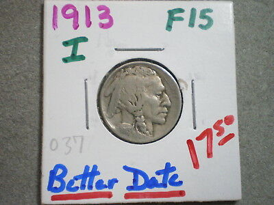 1913 Type 1 Buffalo Nickel/ Great Value--Great Begginner Gift-Free Shipping
