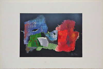 Laszlo Dus Abstract Lithograph Limited Edition 1981 Listed Hungarian Artist Art