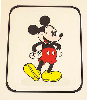 SALE Cartoon Animation Limited Edition Etching Mickey Mouse Walt Disney
