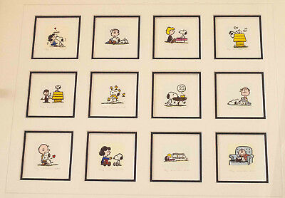 SALE Animation Cartoon Limited Edition Etching Peanuts Snoopy Charlie Brown