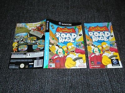 The Simpsons Road Rage - Nintendo Gamecube Inlay Cover & Manual Only