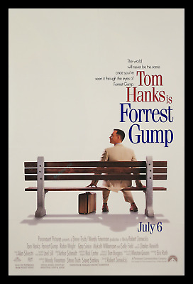 Forrest Gump ☆ Transit 1-Sheet Movie Poster ☆ Special Credit Box & Printed White