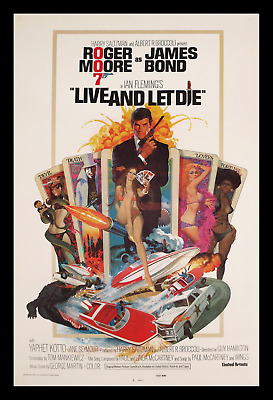 James Bond ☆ Rarest ☆ Nss Rolled ☆ Roger Moore ☆1973 Printers Proof Movie Poster