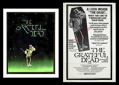 """""""the Grateful Dead Film"""" 1977 Rare Movie Poster Lot - Jerry Garcia At His Best!!"""