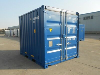 10FT SHIPPING CONTAINER - SWANSEA SOUTH WALES - NEW ONE TRIP 10ft ISO CONTAINERS