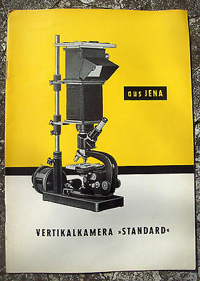 1956 Catalog Descriptive ' Vertikalkamera ' Carl Zeiss Jena Microscopes