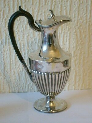 A Good Antique English Silver Plated Coffee Pot ~ Sheffield c1900 VGC