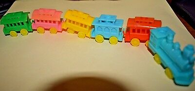 Estate 6 pc Birthday Train or can use in Easter Village Pastel Colors  LOOK
