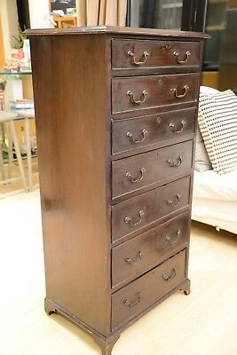 Georgian Mahogany Caddy-top Batchelor's Chest of Drawers