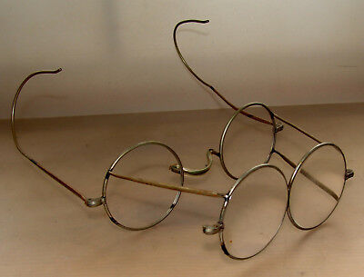 Nickelbrille Brille - Lupe ca. 1920-1940