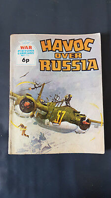 War Picture Library no.715 Havoc over Russia c1960's Fleetway Library