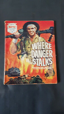 Battle Picture Library no.390 Where Danger Stalks c.1960's Fleetway Library