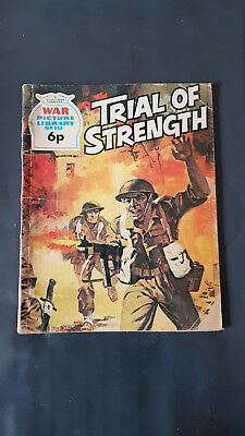 War Picture Library no.884 Trial of Strength c.1960's Fleetway Library